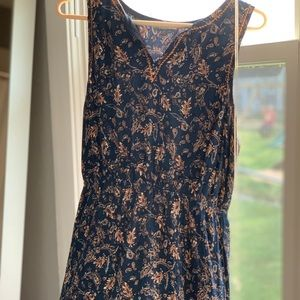 Market & Spruce Navy Embroidered Paisley Dress